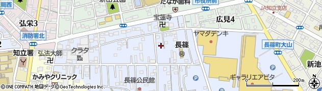 愛知県知立市長篠町周辺の地図