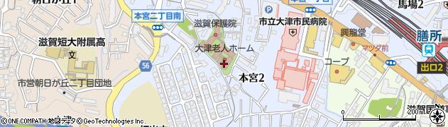 滋賀県大津市本宮周辺の地図