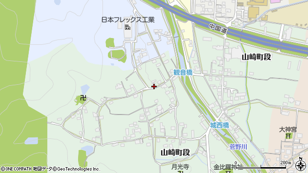 〒671-2552 兵庫県宍粟市山崎町段の地図