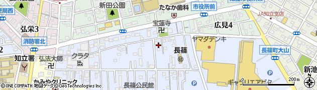 愛知県知立市長篠町(新田東)周辺の地図