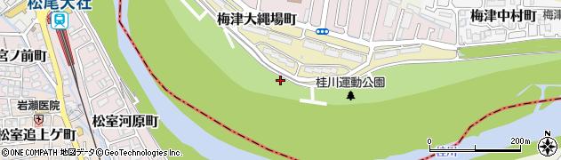 京都府京都市右京区梅津大縄場町周辺の地図