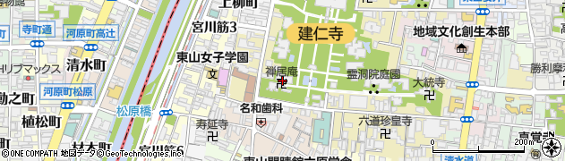 禅居庵周辺の地図