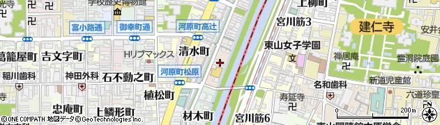 京都府京都市下京区美濃屋町周辺の地図