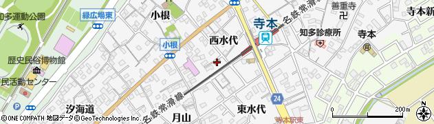 愛知県知多市八幡(西水代)周辺の地図