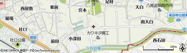 愛知県知立市牛田町(一ノ割)周辺の地図