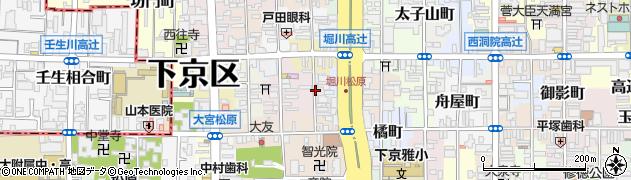 京都府京都市下京区吉文字町周辺の地図