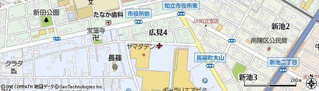 愛知県知立市長篠町(八ツ田道)周辺の地図
