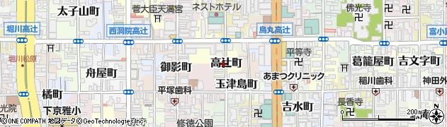 京都府京都市下京区高辻町周辺の地図