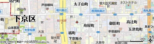 京都府京都市下京区麓町周辺の地図
