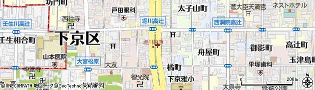 京都府京都市下京区五軒町周辺の地図