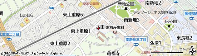 愛知県知立市新地町(古田)周辺の地図