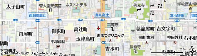 京都府京都市下京区薬師前町周辺の地図