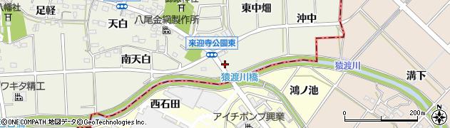 愛知県知立市来迎寺町(下り戸)周辺の地図