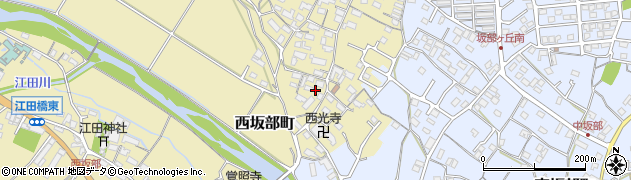 三重県四日市市西坂部町周辺の地図