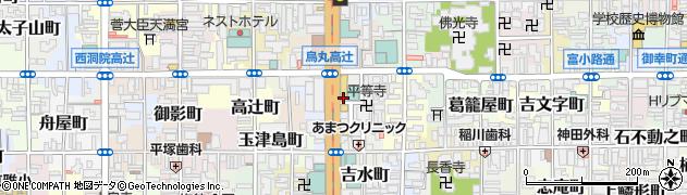 京都府京都市下京区因幡堂町周辺の地図