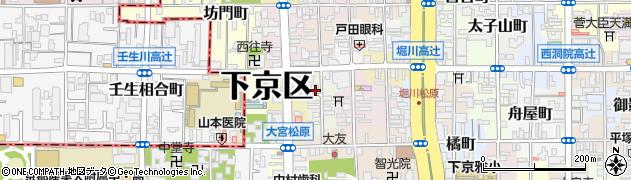 京都府京都市下京区杉蛭子町周辺の地図