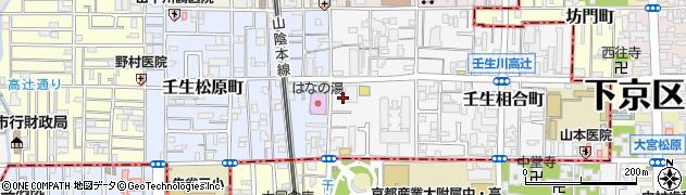 京都府京都市中京区壬生辻町周辺の地図