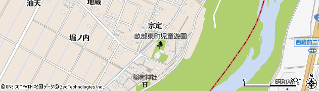 愛知県豊田市畝部東町(宗定)周辺の地図