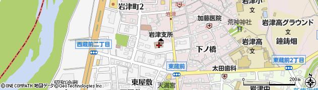 愛知県岡崎市西蔵前町(季平)周辺の地図
