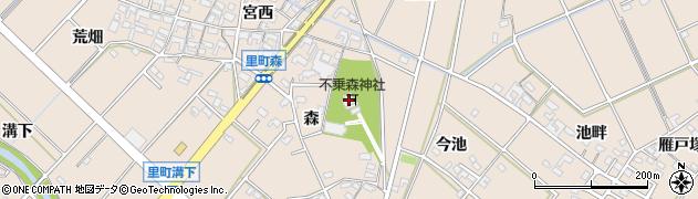 不乗森神社周辺の地図