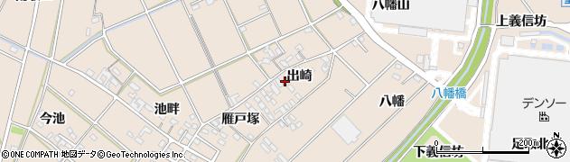 愛知県安城市里町(出崎)周辺の地図