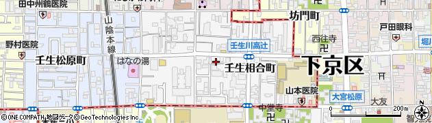 京都府京都市中京区壬生相合町周辺の地図