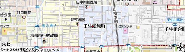 京都府京都市中京区壬生松原町周辺の地図