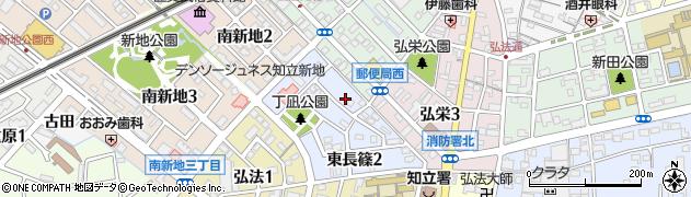 愛知県知立市長篠町(東長篠)周辺の地図