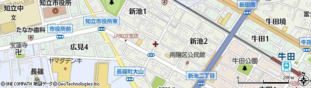 愛知県知立市新池周辺の地図