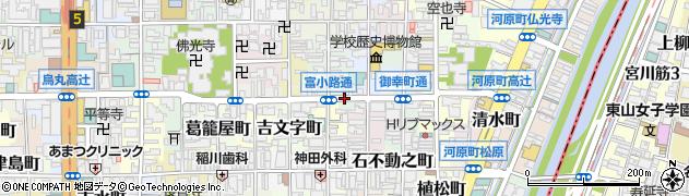 京都府京都市下京区雁金町周辺の地図