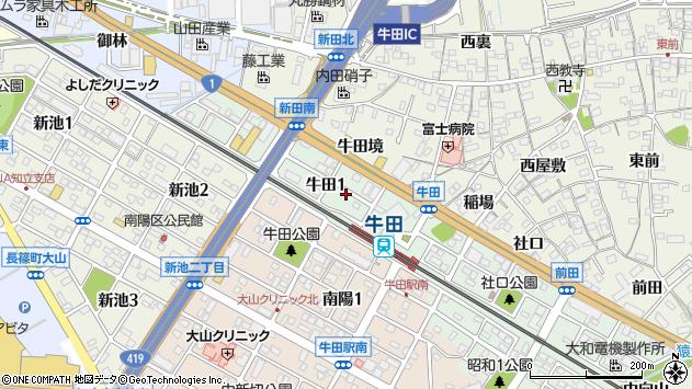 〒472-0003 愛知県知立市牛田の地図