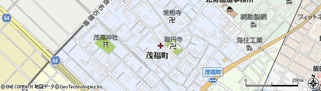 三重県四日市市茂福町周辺の地図