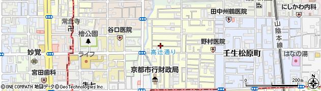 京都府京都市中京区壬生下溝町周辺の地図