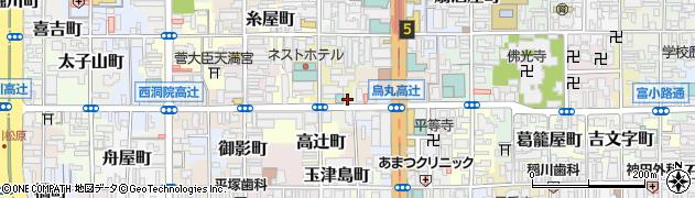 京都府京都市下京区骨屋町周辺の地図