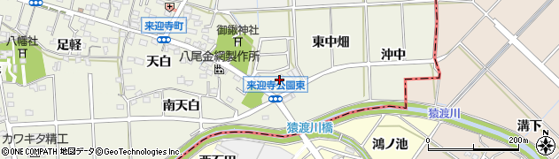 愛知県知立市来迎寺町(西中畑)周辺の地図