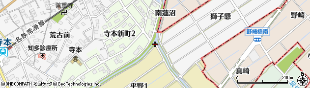 愛知県知多市八幡(平野)周辺の地図