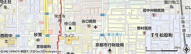 京都府京都市中京区壬生東檜町周辺の地図