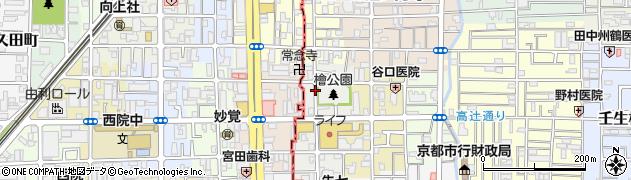 京都府京都市中京区壬生西檜町周辺の地図