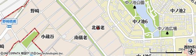 愛知県東海市高横須賀町(北儀老)周辺の地図