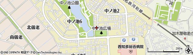 愛知県東海市中ノ池周辺の地図