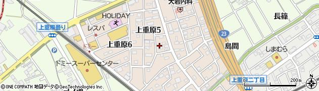 愛知県知立市上重原町(野中)周辺の地図