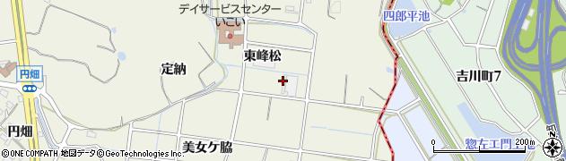 愛知県東海市加木屋町(東峰松)周辺の地図