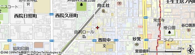 京都府京都市右京区西院西矢掛町周辺の地図
