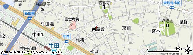 愛知県知立市牛田町(西屋敷)周辺の地図