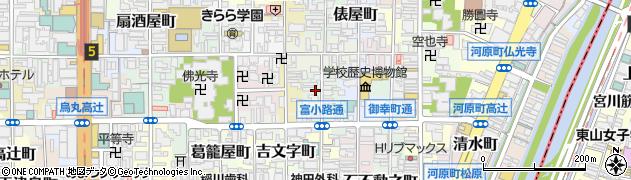 京都府京都市下京区筋屋町周辺の地図