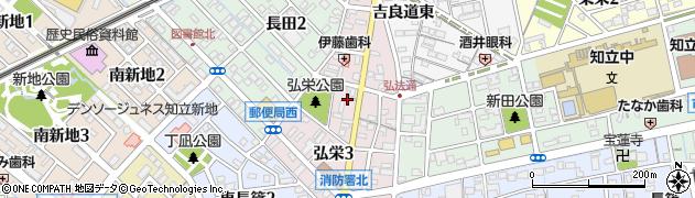 愛知県知立市弘栄周辺の地図