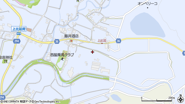 〒677-0039 兵庫県西脇市上比延町の地図