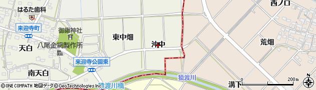 愛知県知立市来迎寺町(沖中)周辺の地図