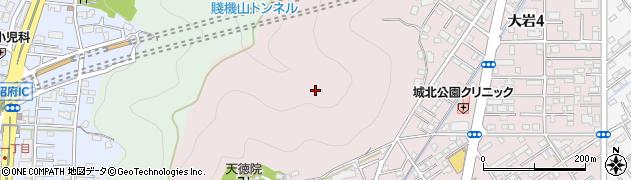 静岡県静岡市葵区大岩周辺の地図