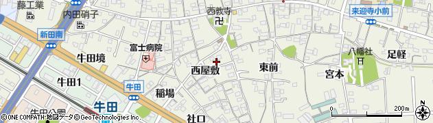 愛知県知立市牛田町周辺の地図